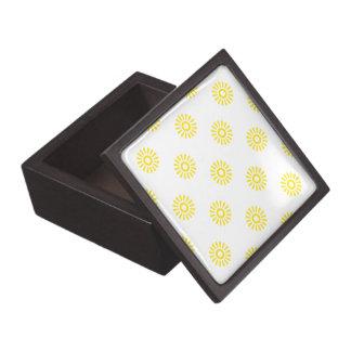 Amarillo del modelo de la flor 6 caja de recuerdo de calidad