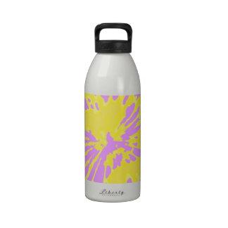 Amarillo del modelo del chapoteo y diseño abstract botellas de agua reutilizables
