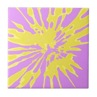 Amarillo del modelo del chapoteo y diseño abstract tejas  cerámicas