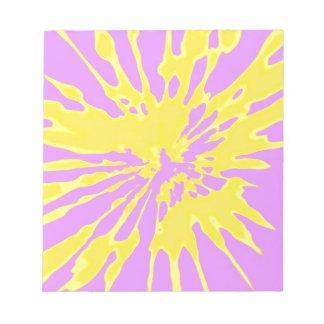 Amarillo del modelo del chapoteo y diseño abstract blocs de papel