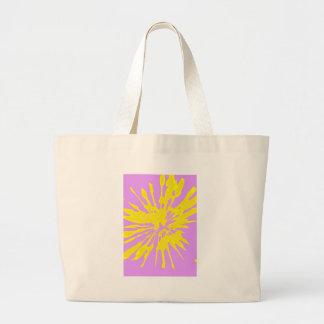 Amarillo del modelo del chapoteo y diseño abstract bolsa de mano