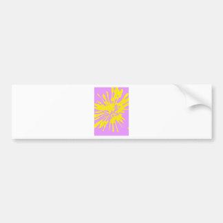 Amarillo del modelo del chapoteo y diseño abstract pegatina de parachoque