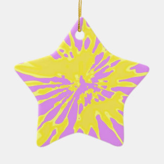 Amarillo del modelo del chapoteo y diseño abstract ornaments para arbol de navidad