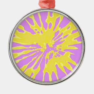 Amarillo del modelo del chapoteo y diseño abstract adornos de navidad