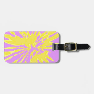 Amarillo del modelo del chapoteo y diseño abstract etiquetas para maletas