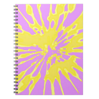 Amarillo del modelo del chapoteo y diseño abstract libreta