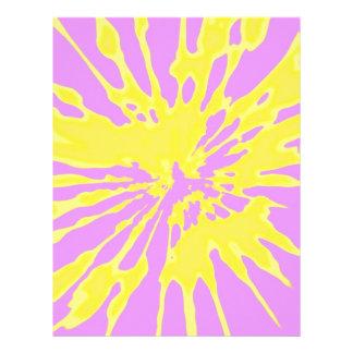 Amarillo del modelo del chapoteo y diseño abstract membretes personalizados