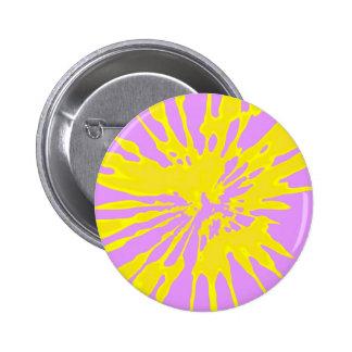 Amarillo del modelo del chapoteo y diseño abstract pin