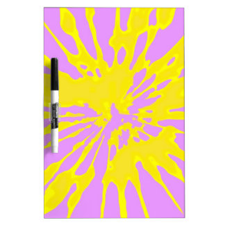 Amarillo del modelo del chapoteo y diseño abstract pizarras blancas