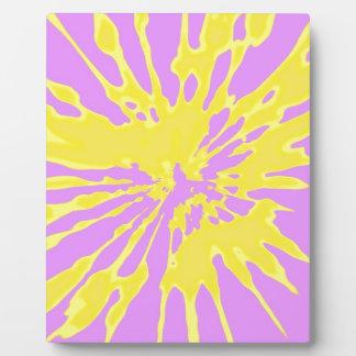 Amarillo del modelo del chapoteo y diseño abstract placas de plastico
