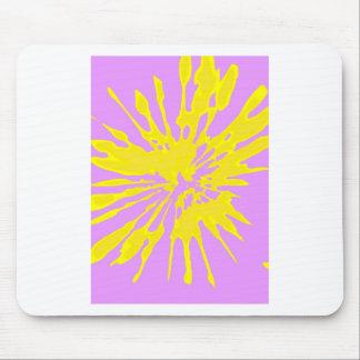 Amarillo del modelo del chapoteo y diseño abstract tapetes de ratón