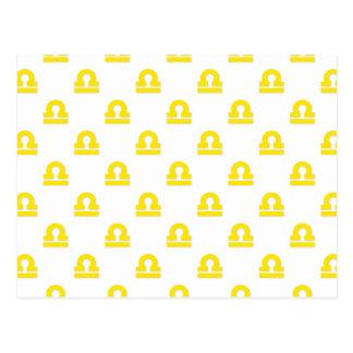 Amarillo del modelo del libra postal