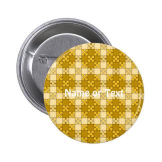 amarillo del modelo del rompecabezas pin redondo 5 cm