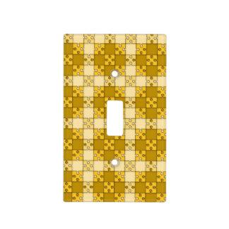 amarillo del modelo del rompecabezas placas para interruptor