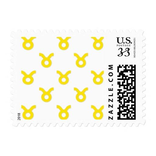 Amarillo del modelo del tauro sellos