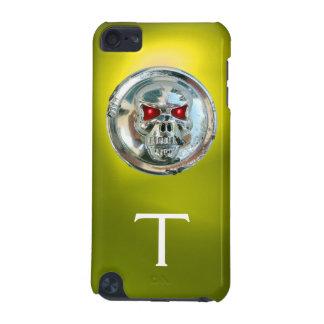 Amarillo del MONOGRAMA de los JINETES del CRÁNEO Funda Para iPod Touch 5G