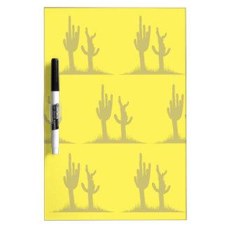 Amarillo del moreno del cactus pizarra blanca