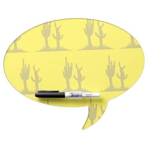 Amarillo del moreno del cactus tablero blanco