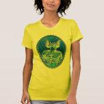 Amarillo del motorista w camisetas
