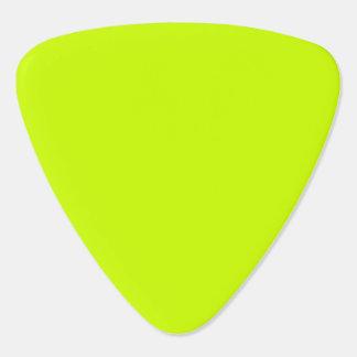 Amarillo del neón del color sólido uñeta de guitarra