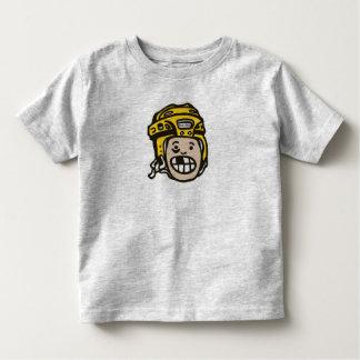 Amarillo del niño del hockey playera de bebé