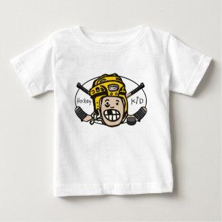 Amarillo del niño del hockey poleras