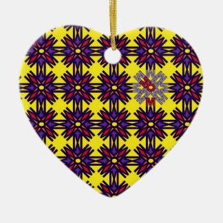 Amarillo del ornamento del mosaico de la MAMÁ Ornamentos De Reyes