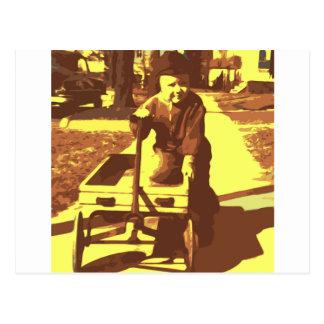 Amarillo del paseo del carro postal