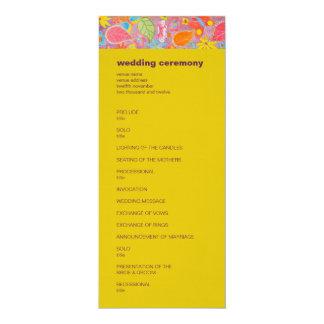 Amarillo del programa del boda de Ganesh Invitación 10,1 X 23,5 Cm