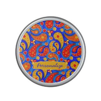 Amarillo del rojo anaranjado de Paisley de la Altavoz Bluetooth