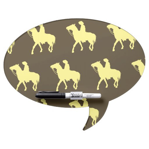 Amarillo del vaquero pizarras blancas de calidad