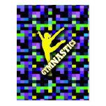 Amarillo del verde azul de la gimnasia tarjetas postales