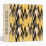 Amarillo del vintage, art déco abstracto negro de
