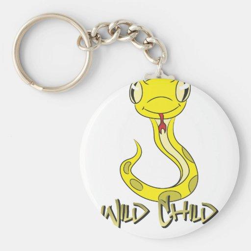 Amarillo del WC de la serpiente Llavero Personalizado