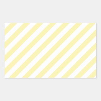 Amarillo diagonal y maíz de Stripes-Yellow2-Light Rectangular Pegatinas