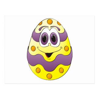 Amarillo divertido del huevo de Pascua Postal