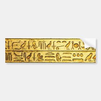 Amarillo egipcio antiguo de los jeroglíficos pegatina para auto
