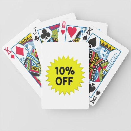 Amarillo el 10 por ciento apagado baraja cartas de poker
