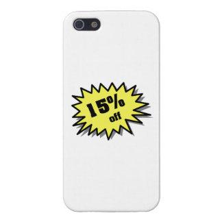 Amarillo el 15 por ciento apagado iPhone 5 carcasa