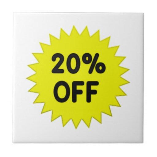 Amarillo el 20 por ciento apagado teja