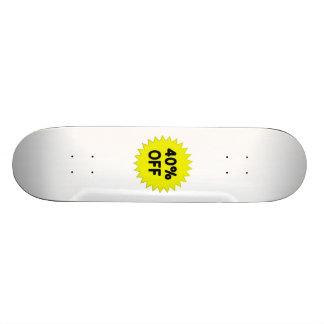 Amarillo el 40 por ciento apagado patinetas personalizadas