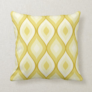 Amarillo el | en colores pastel geométrico oval cojin