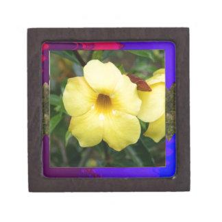 Amarillo elegante barato de la flor de la ORQUÍDEA Cajas De Recuerdo De Calidad
