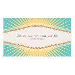 Amarillo elegante de la turquesa del boutique de l plantillas de tarjetas de visita