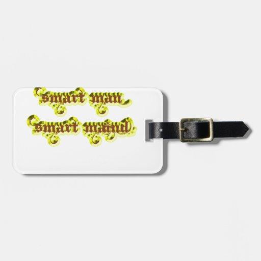 Amarillo elegante del maind del hombre elegante etiqueta para maleta