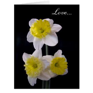 Amarillo en la tarjeta del día de San Valentín