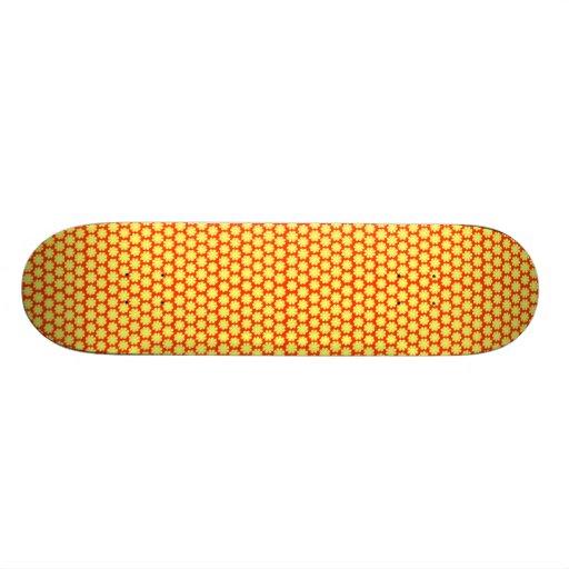 Amarillo en margaritas anaranjadas del flower powe patinetas personalizadas