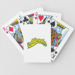 Amarillo en verde baraja cartas de poker
