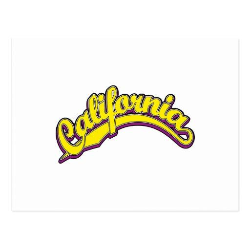 Amarillo en violeta postales