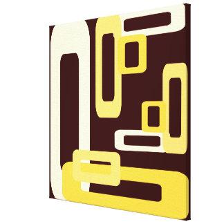 Amarillo estilizado de los rectángulos impresión en tela